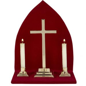 Altar Set With Background – Plain Cross