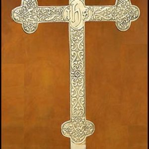 Budded Cross With Filigree Design