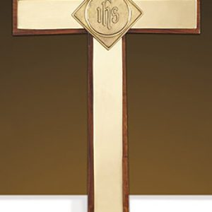 Oxford Altar Cross With IHS Emblem