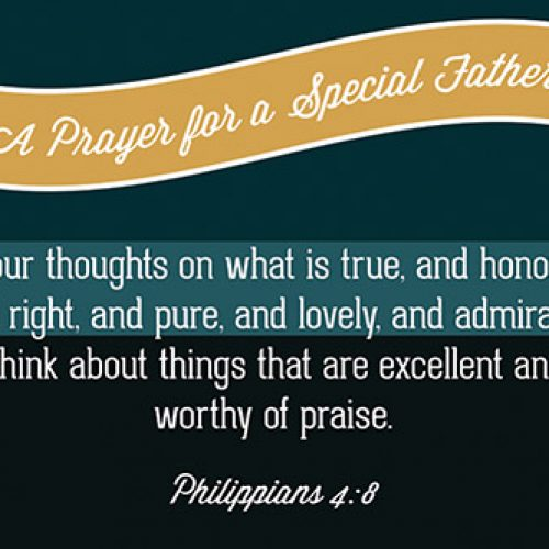 Pass It On – Prayer Special Father