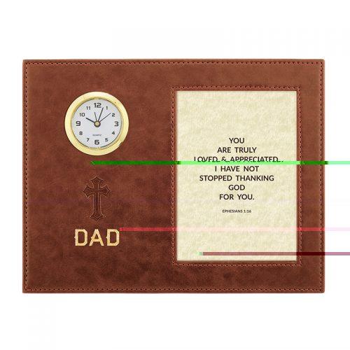 Dad – Ephesians 1:16 – 9″ x 7″ Framed Table Clock