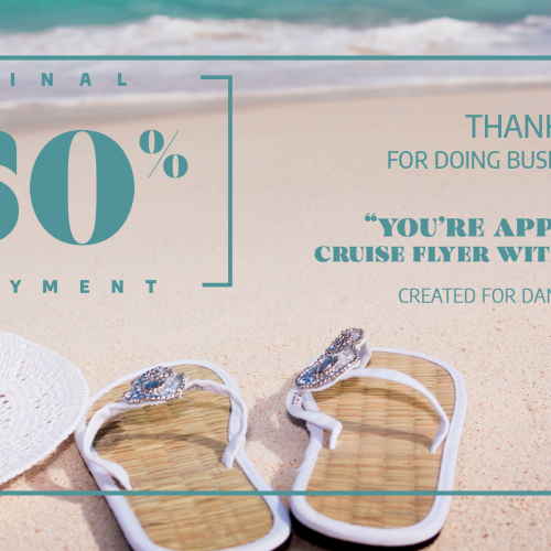 Protected: 50% Final Payment- You're Appreciated Cruise